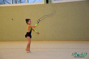 Die amtierende Landesmeisterin 2015 zeigte, was man mit viel Training erreichen kann